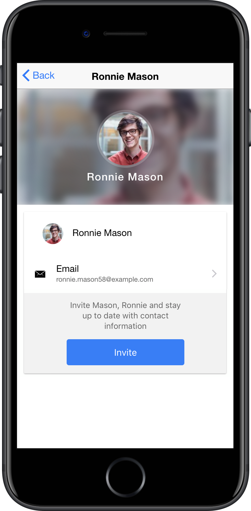 Screenshot Contact Details